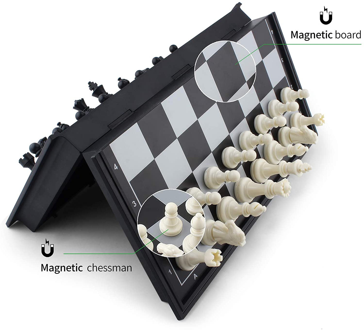 38810 Small Magnetic Chess Set Travel Chess Set With Folding Board Portable Chessboard B