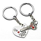World Pride Key to My Heart Cute Couple Keychain Love Keychain Key Ring