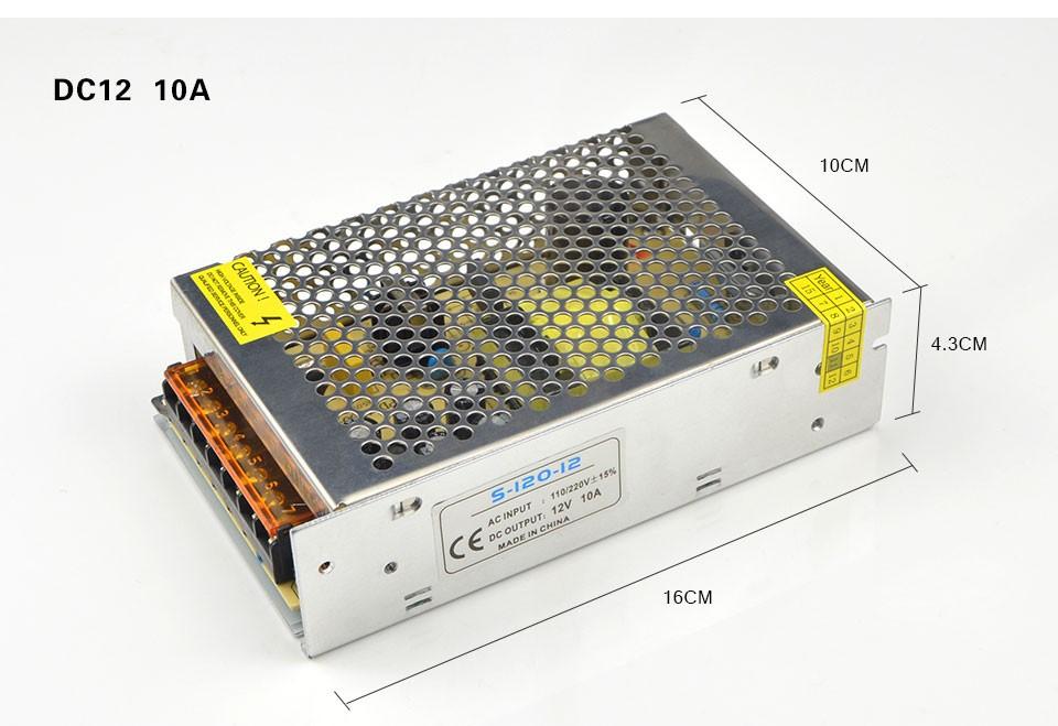 Switching Power Supply DC12V 1A 2A 3A 5A 8A 10A 15A 20A 30A AC 110V 220V 240V to DC 12 Volts AC-DC 12 V for 12V LED Strip