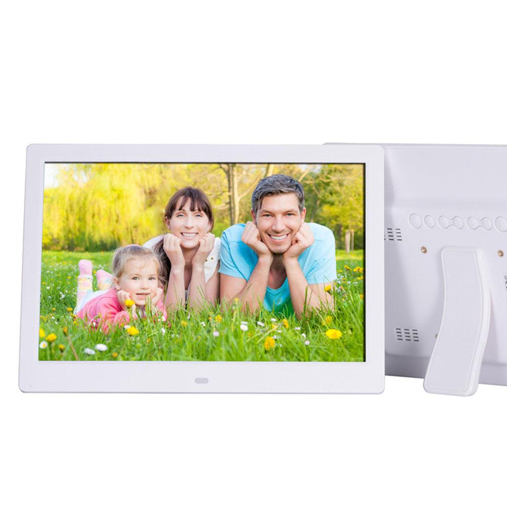 12 Inch Digital Photo Frame HD 1280x800 LED Back-light Electronic Album Picture Music Video Gift White EU plug