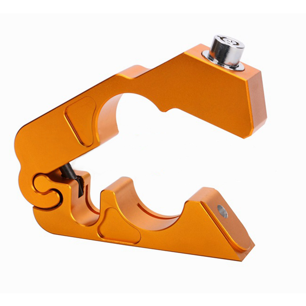 CNC Motorcycle Handlebar Lock Brake Lever Throttle Grip Security Lock Anti Theft Protection Gold