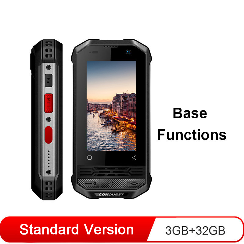Conquest F2 Rugged Smartphone Mini Ip68 Nfc 3700mah Android Mobile Phone 3+32GB Standard Edition