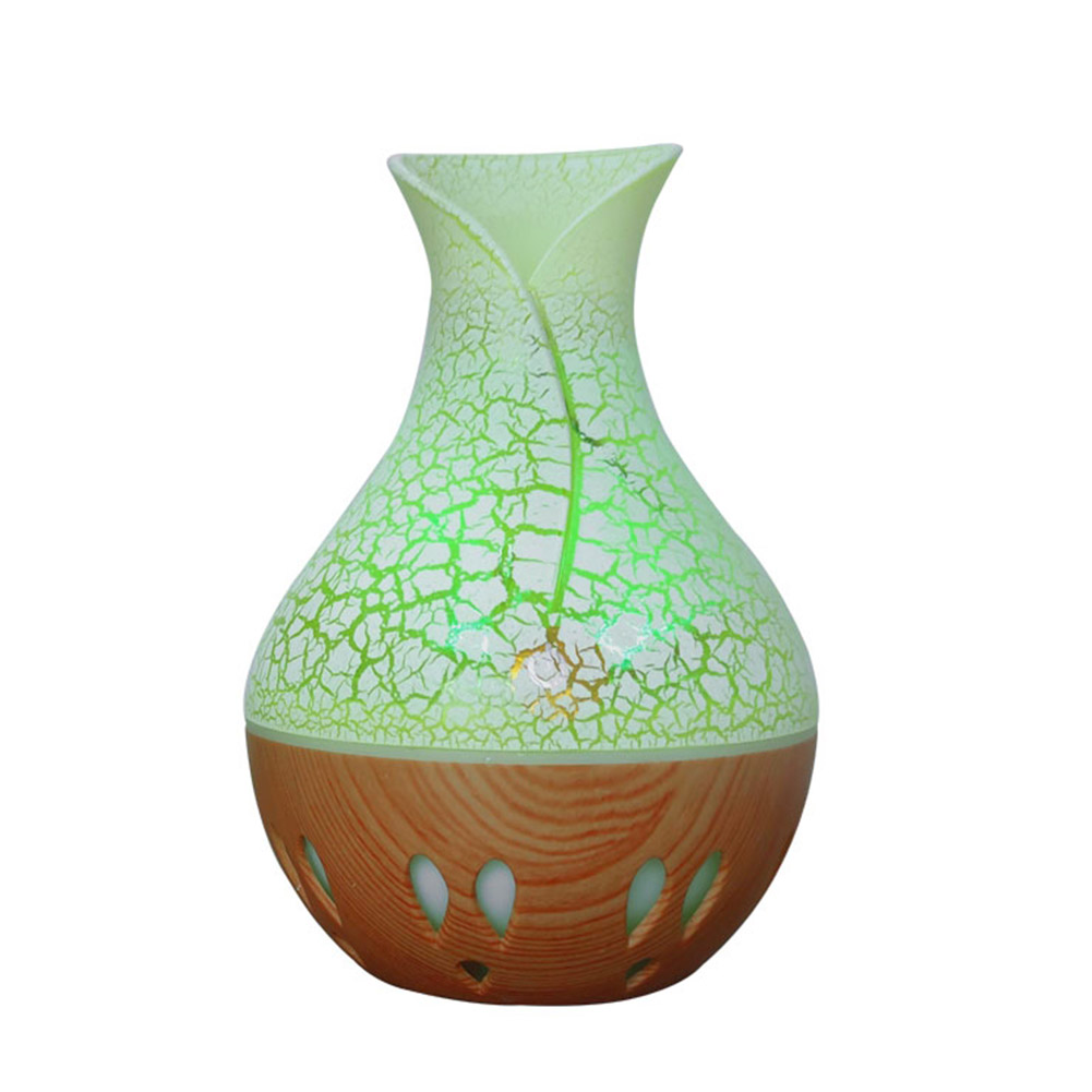 USB Essential Oil Diffuser Air Humidifier Mute Wood Aromatherapy Mist Maker Shallow crack + hollow