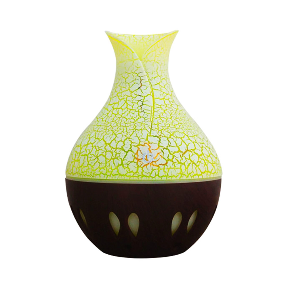 USB Essential Oil Diffuser Air Humidifier Mute Wood Aromatherapy Mist Maker Dark crack + hollow