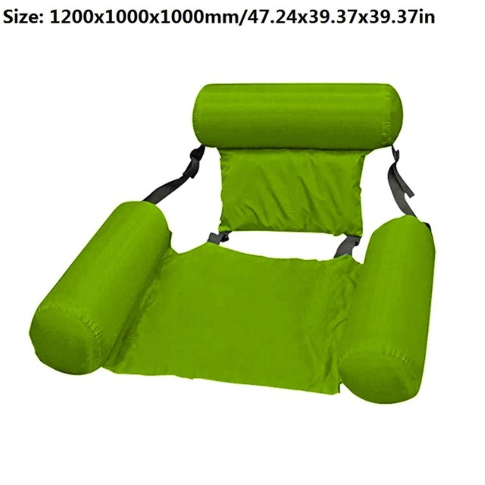 Summer Inflatable Foldable Floating Row Swimming Pool Water Hammock Air Mattresses Bed Beach Water Sports Lounger Chair green