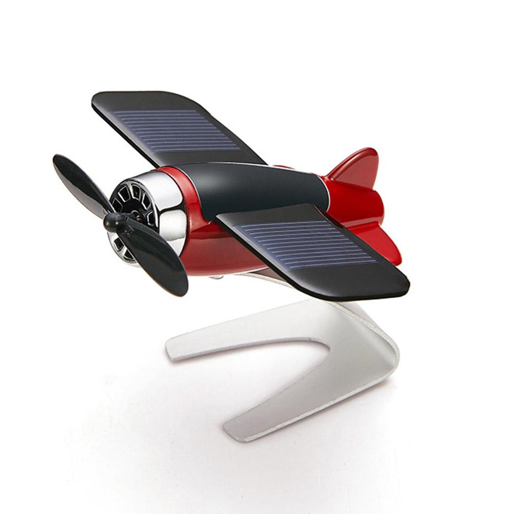 Solar Energy Aromatherapy Aircraft Car Console Interior Decoration lemon red