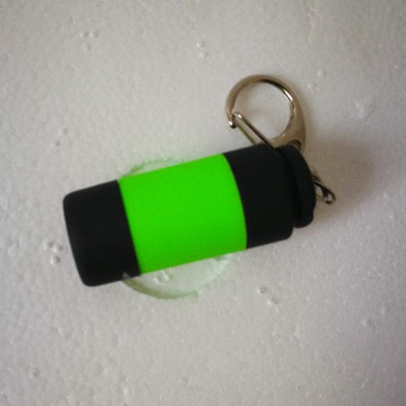 USB Rechargeable Portable LED Light Flashlight Keychain Lamp Pocket Mini Torch Green