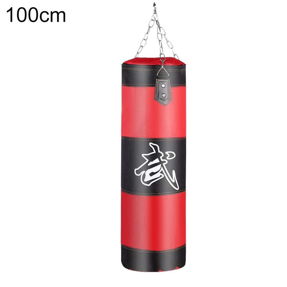 Punch Sandbag Boxing Hook Kick Bag Punching Sack Boxing Training Equipment red_100cm