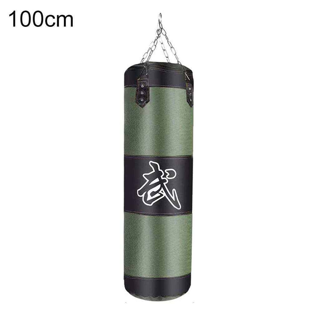 Punch Sandbag Boxing Hook Kick Bag Punching Sack Boxing Training Equipment green_100cm