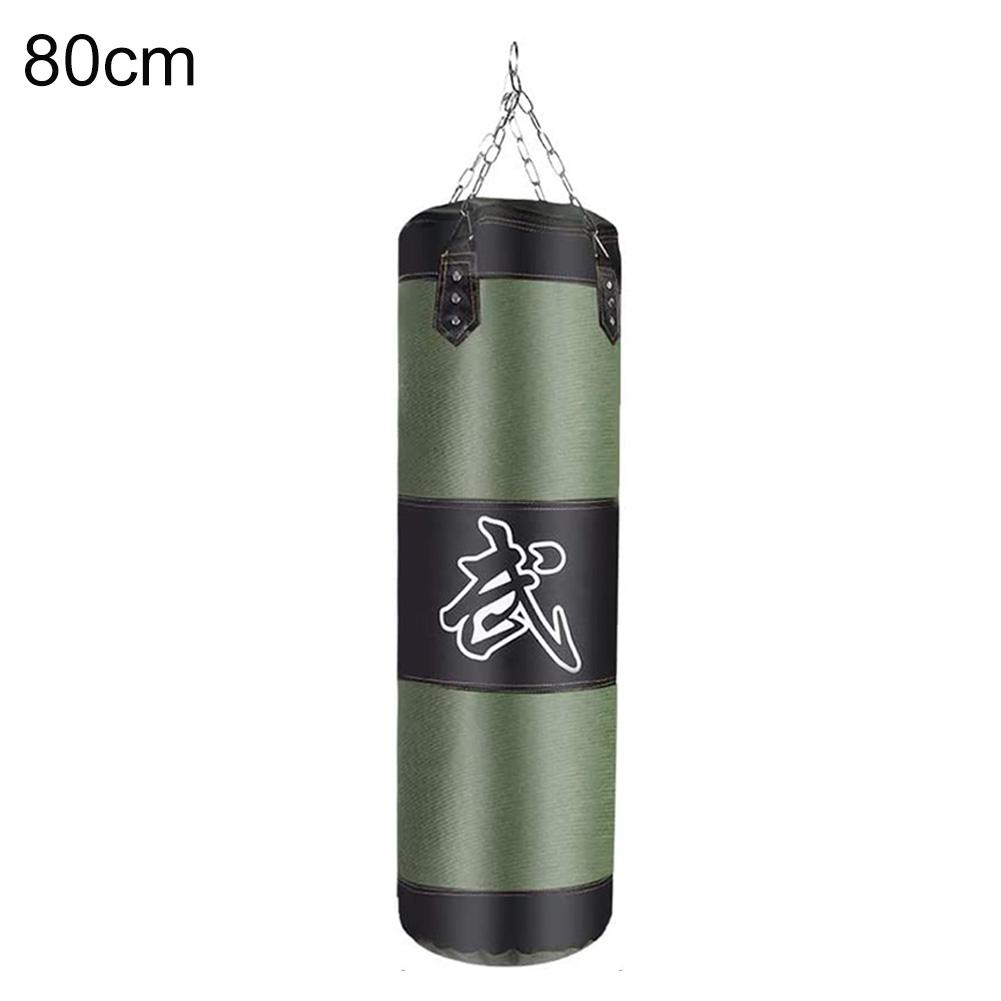 Punch Sandbag Boxing Hook Kick Bag Punching Sack Boxing Training Equipment green_80cm