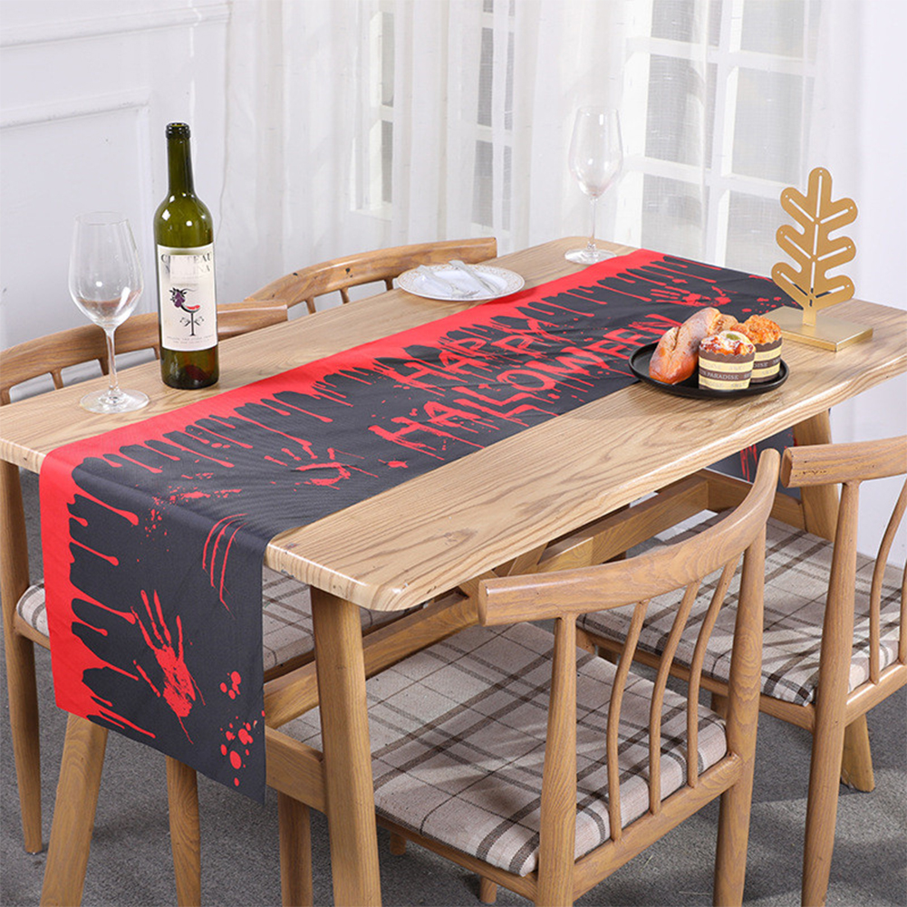 Halloween  Style Print Table  Runner Tablecloth For Household Desk Decoration 180x33cm