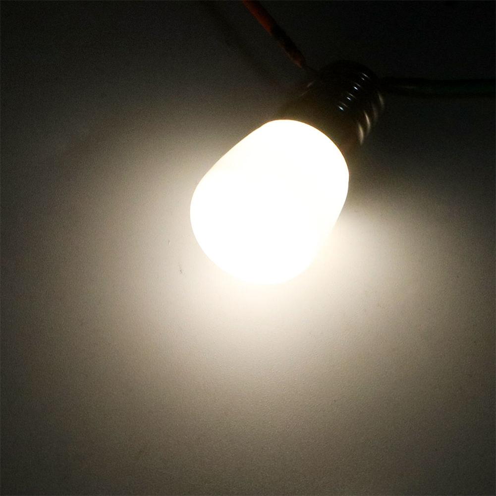 [Indonesia Direct] AC 220V Mini E14 SMD2835 LED Blub Glass Lamp for Fridge Freezer Home Lighting Warm White