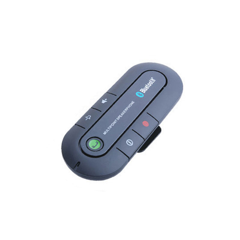 Car Sun Shield Mount Bluetooth 4.2 Car Hands Free Speakerphone System Calling Car Adapter black