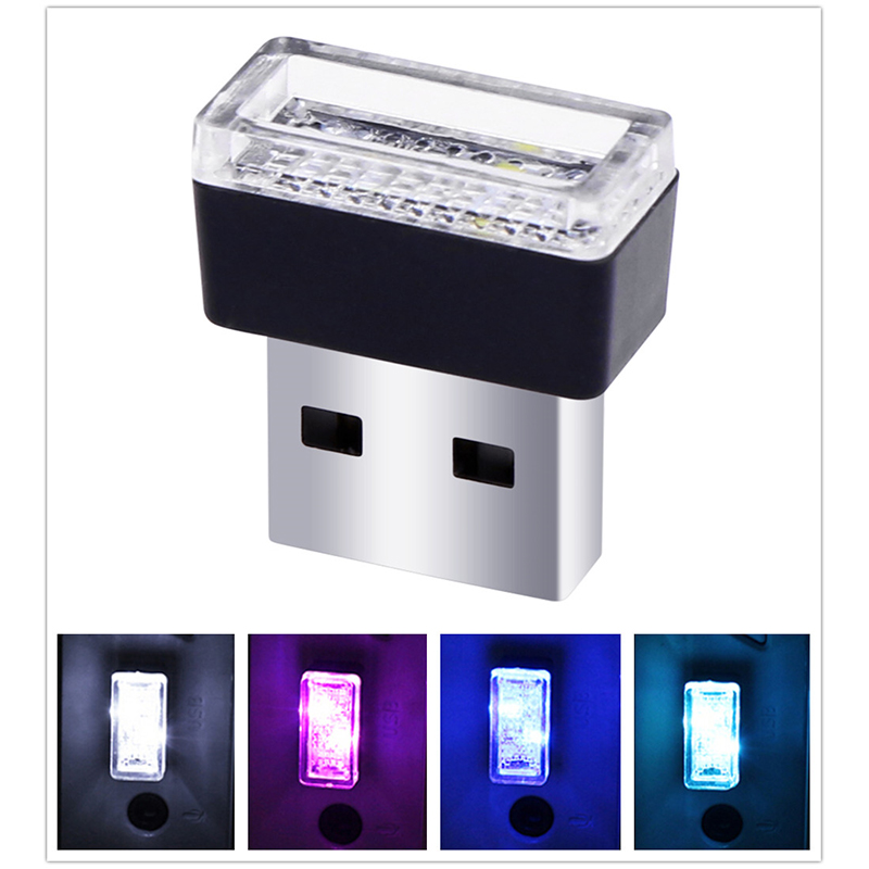 USB LED Car Interior Atmosphere Light Feet Lamp Illumination Decoration Light  white light