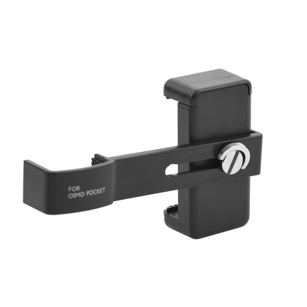 [Indonesia Direct] For DJI OSMO Pocket Camera Smartphone Holder Stand Mount Mobile Phone Holder black