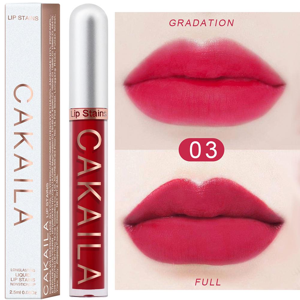 Lip  Gloss Waterproof Matte Moisturizing Liquid Lipstick Sexy Lip Makeup Cosmetic 03