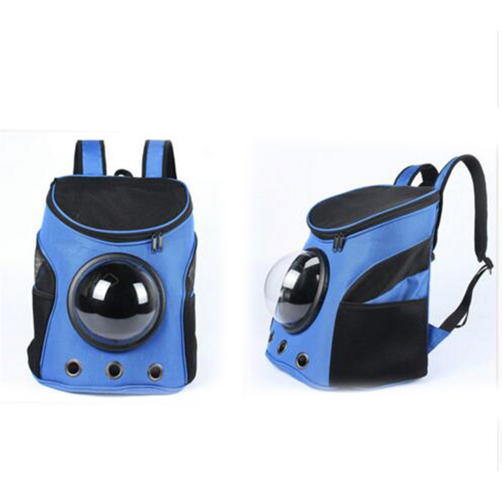 [Indonesia Direct] Breathable Capsule Pet Backpack Carrier Travel Bags for Cat Dog Puppy Small Animals  blue