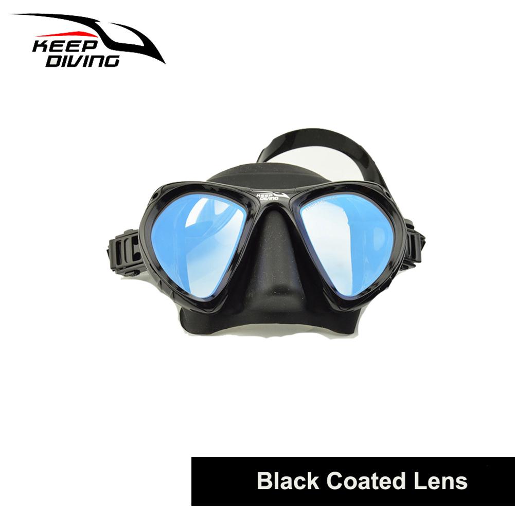 DM406+SN506 Professional Full-dry Snorkeling Mask Foldable for adult Scuba Diving Mask black_Colorful tube lens eyeglass set