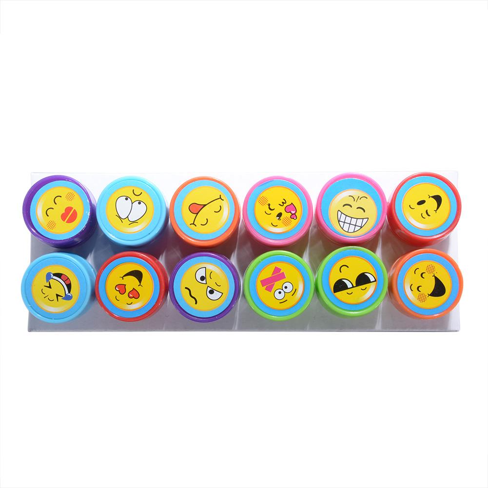 [EU Direct] 12个可爱卡通玩具印章套装 表情系列款(彩盒)