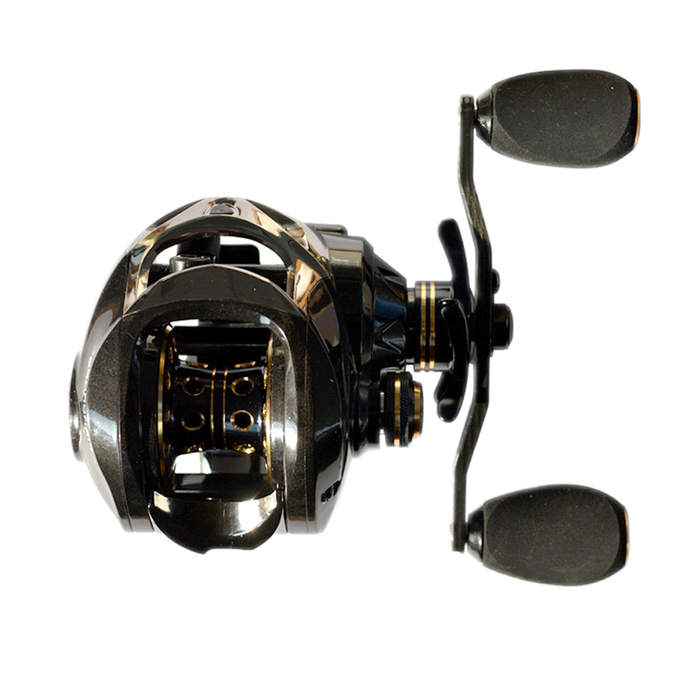 Fishing Reels Baitcasting Reel Left Hand Right Hand Full Carbon Fiber Body Dual Brake System Gear Ratio 7.2:1 Low-Profile Reel XLSDLCT right hand