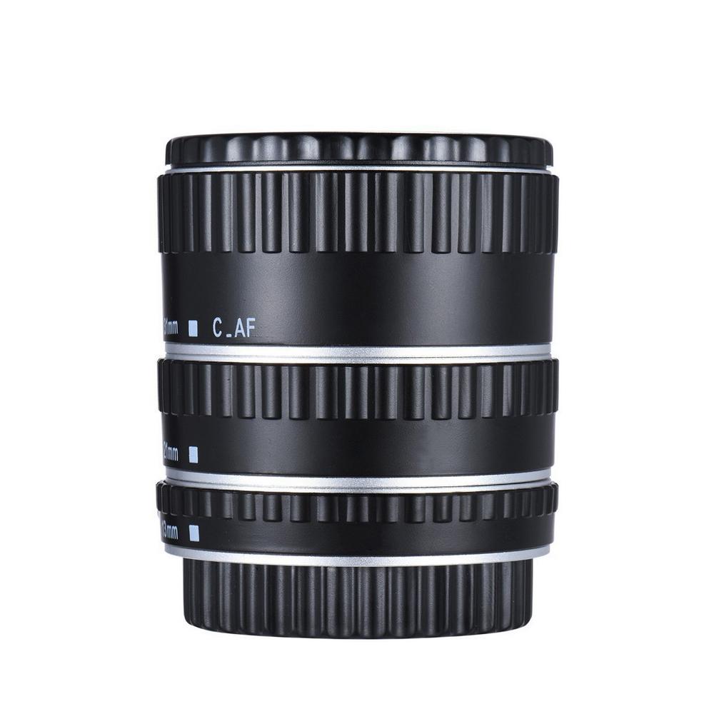 Metal Mount Lens Adapter Auto Focus AF Macro Extension Tube Ring for Canon EOS EF-S Lens 750D 80D 7D T6s 60D 7D 550D 5D Mark IV  Silver