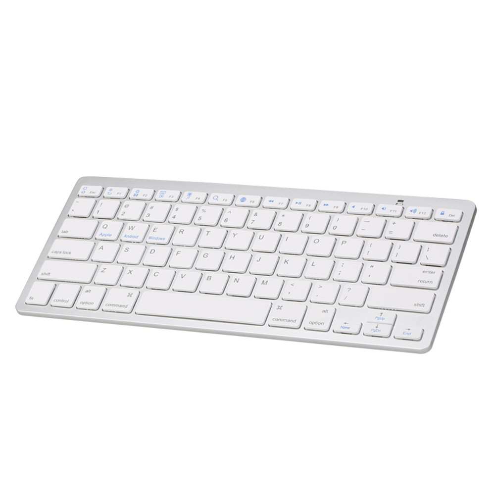 Slim Wireless BT 3.0 Keyboard for iMac/iPad/Android/Phone/Tablet PC silver white