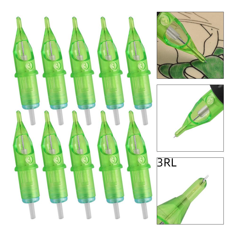 Tattoo Cartridge Needles Disposable Semi-Permanent Eyebrow 3RL Tattooing Needle  3RL