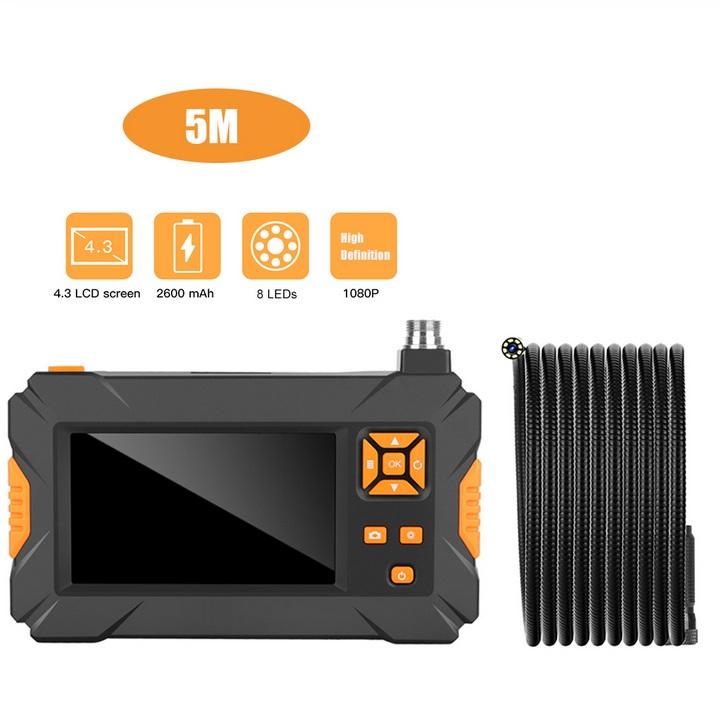 P30 Handheld Endoscope 4.3inch HD 1080P Display Screen IP67 Industrial Borescope 5 meters