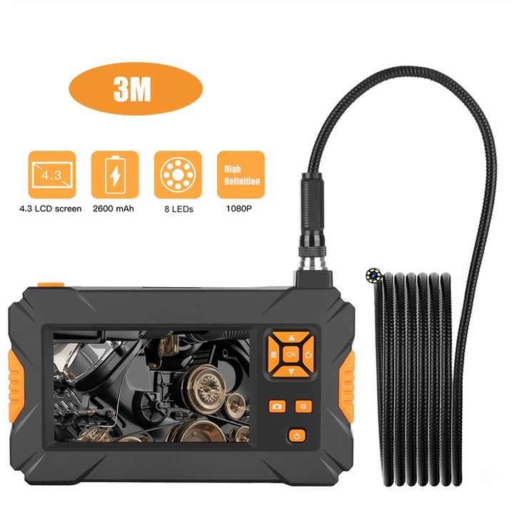 P30 Handheld Endoscope 4.3inch HD 1080P Display Screen IP67 Industrial Borescope 3 meters
