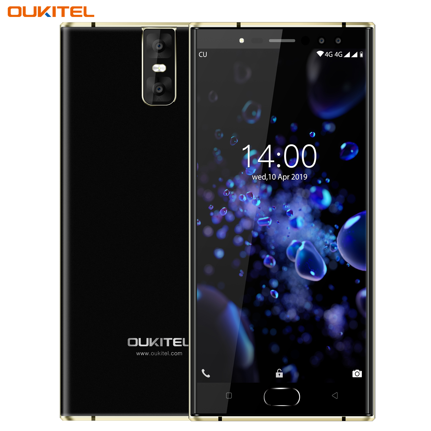 Oukitel K3 Pro Quad Core 5.5 inch 8000mAh Battery 5MP+13MP Camera 1440x720 Resolution 32GB+4GB Mobile Phone Smartphone Black