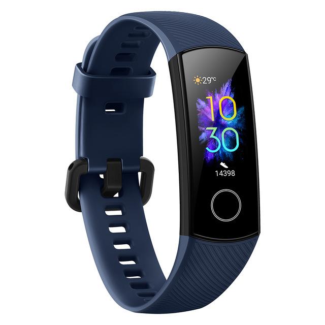 Huawei HONOR 5 384KB+1MB 100mAh Smart Bracelet Multifunctional Heart Rate Blood Oxygen 5ATM Waterproof Wristwatch blue
