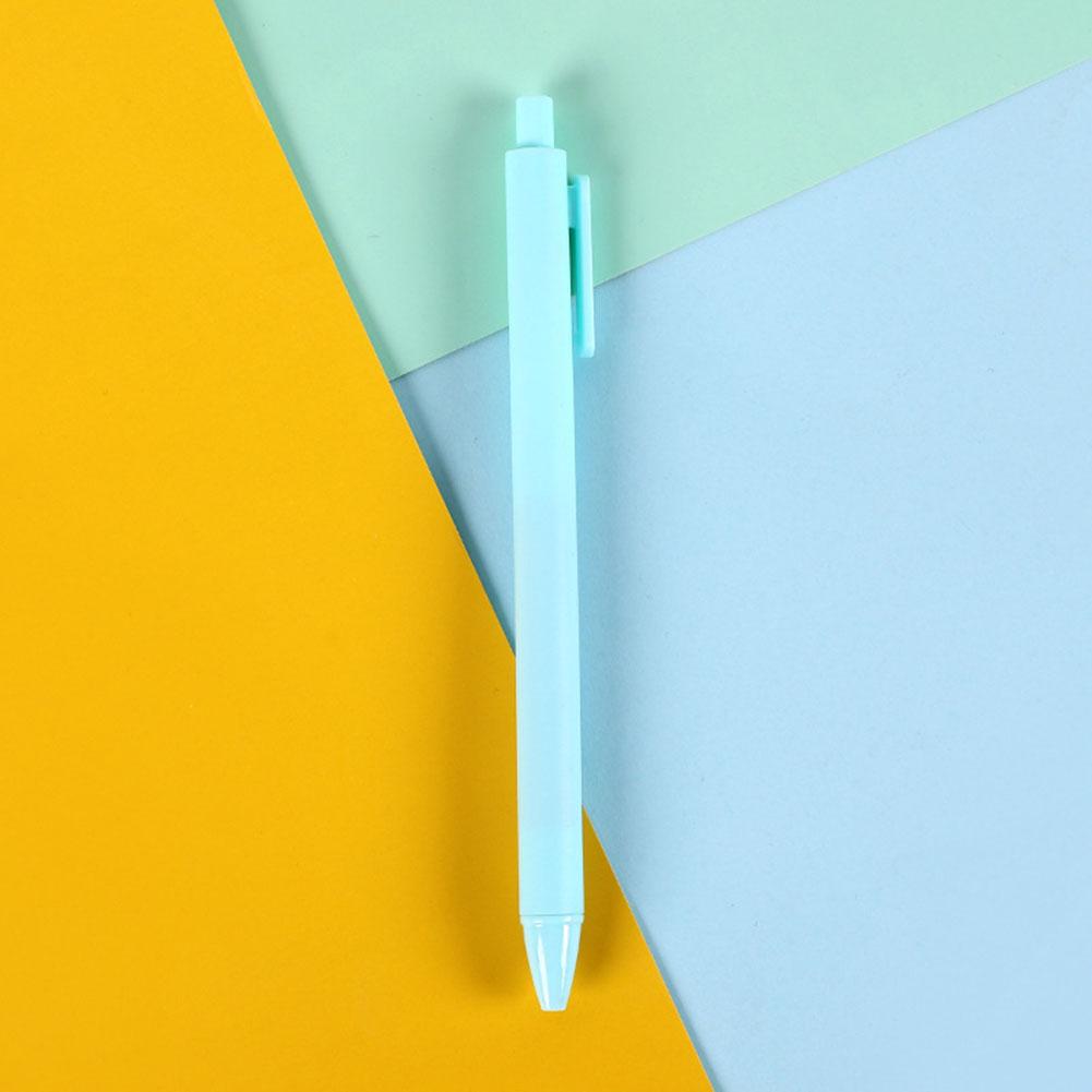 Cartoon Gel Pen Press Style Ballpoint Pen for School Writing Stationery blue_0.5mm