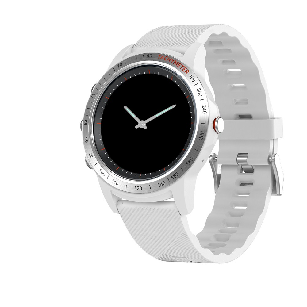 S22 LCD Perforated Screen Smart Call Photoelectric Heart Rate Colour Sports Watch silver white