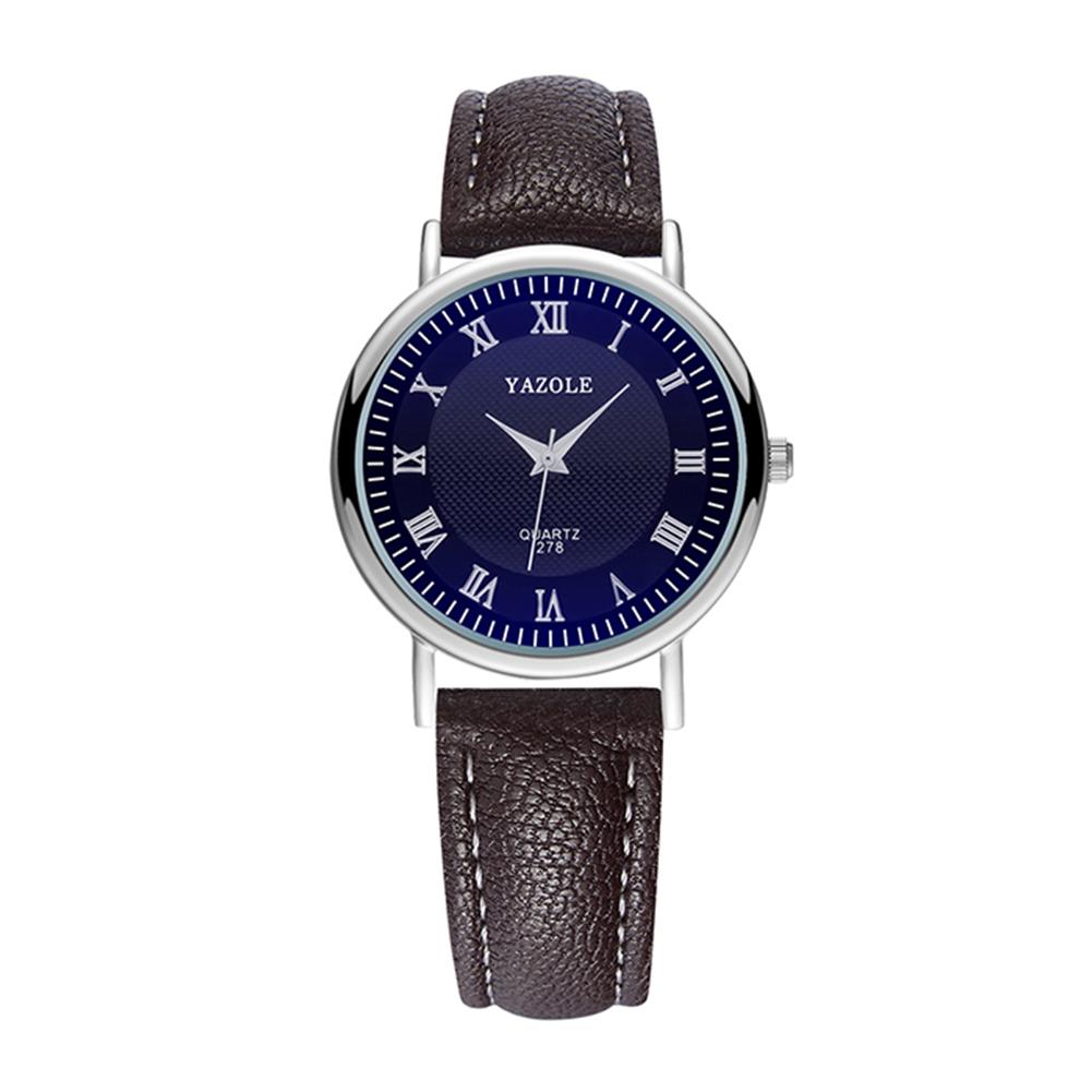 Men Luxury Blue Ray Waterproof Leather Band Quartz Wristwatch