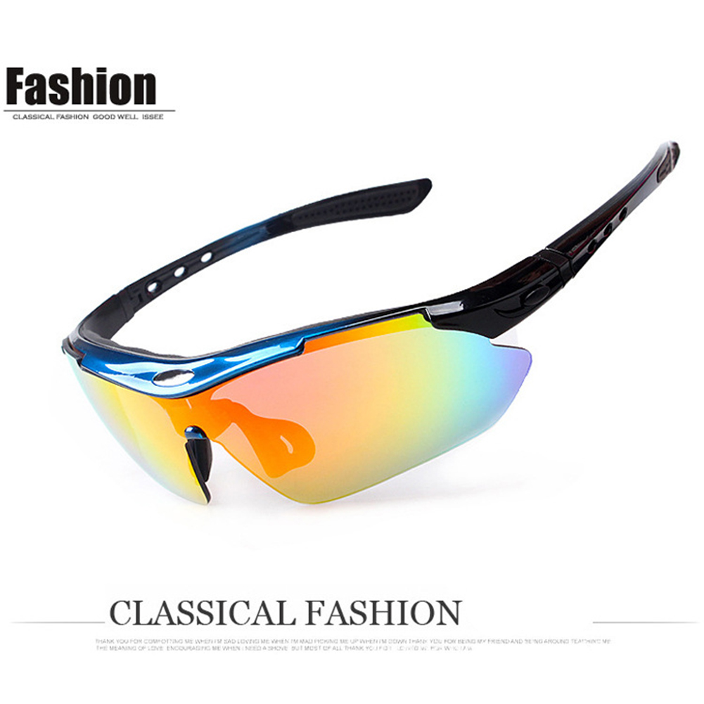 5pcs/set 0089 Polarized  Sports  Men  Sunglasses Protection Goggles Eyewear 5 Lens