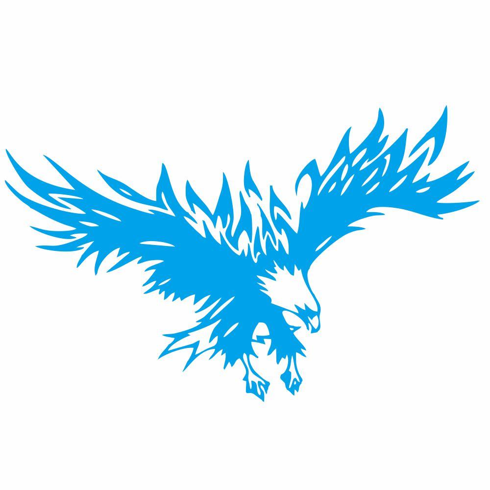 50 * 80cm Animal Eagle Car-styling Motorcycle Car Sticker Vinyl Decal blue