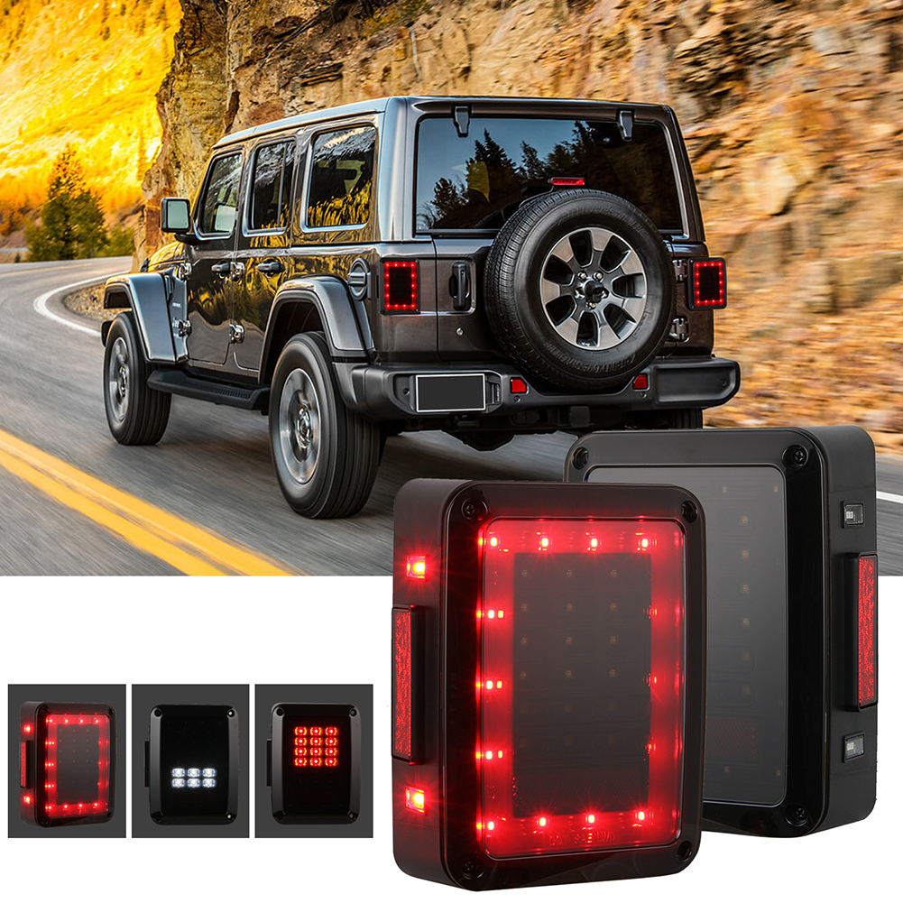 For JEEP Wrangler JK 07-17 Car LED Reverse Brake Taillights Assembly As shown