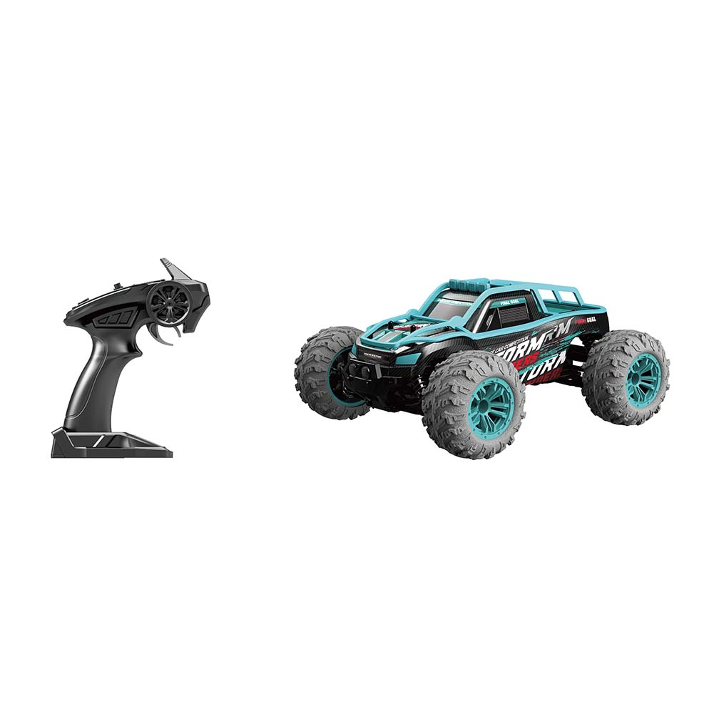 1/14 Scale RC Car Simulation Model Toy Four Wheel Drive Off-road Vehicle Gift for Kids blue_G167