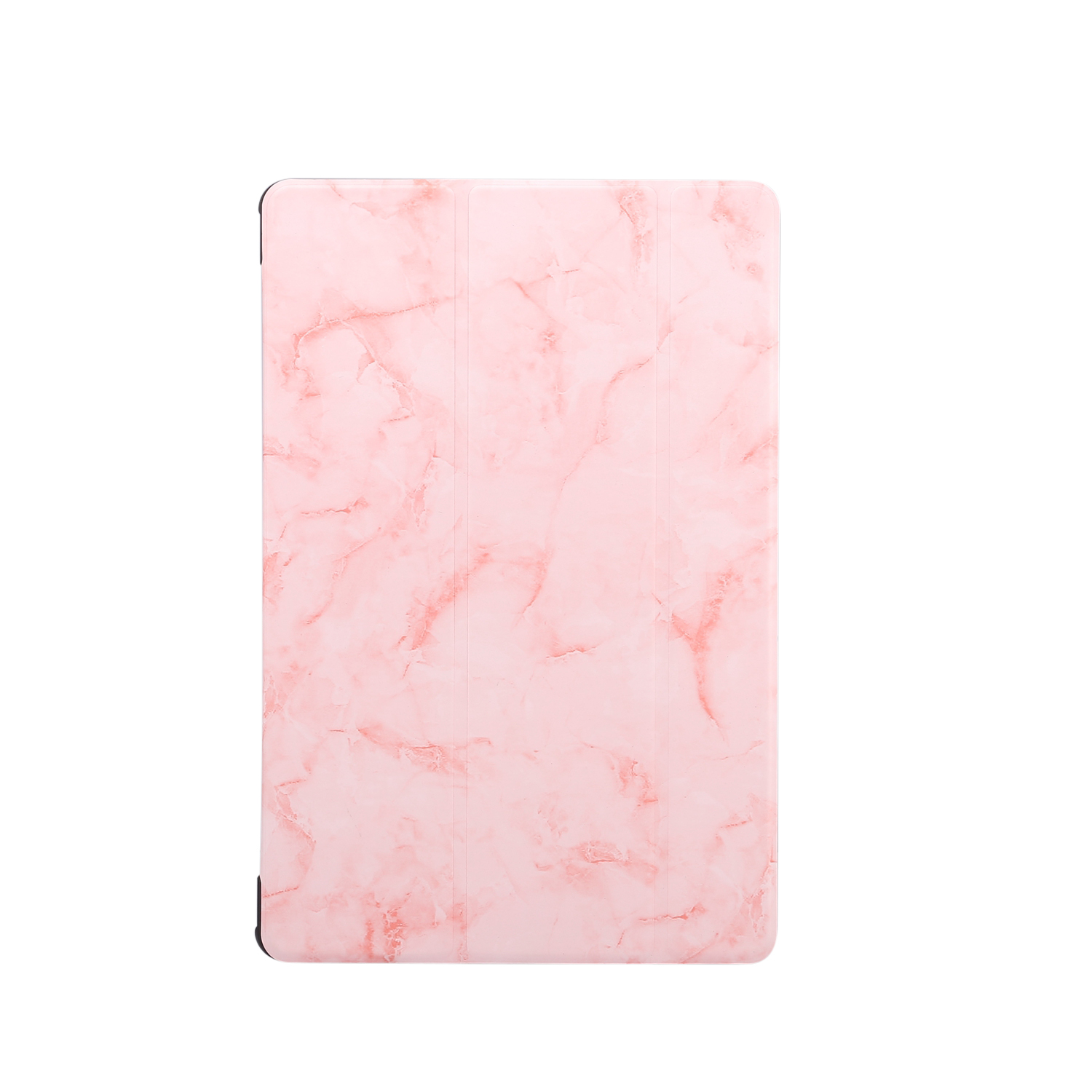 For Samsung Tab S6 T860 Tablet Cover Marbling Pattern PU Leather Anti-fall Anti-scrach Anti-slip Protect Shell Tri-fold Case  pink