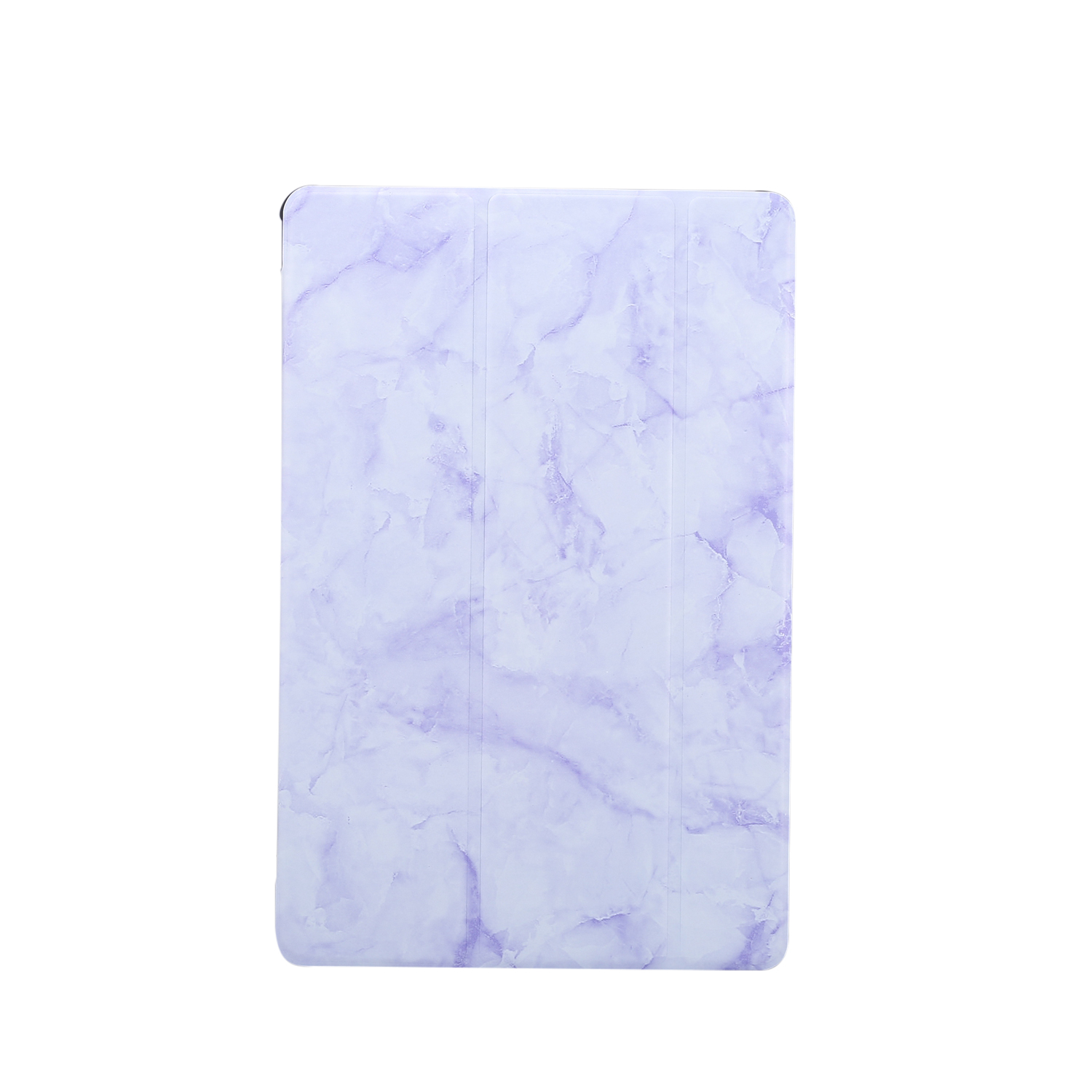 For Samsung Tab S6 T860 Tablet Cover Marbling Pattern PU Leather Anti-fall Anti-scrach Anti-slip Protect Shell Tri-fold Case  purple