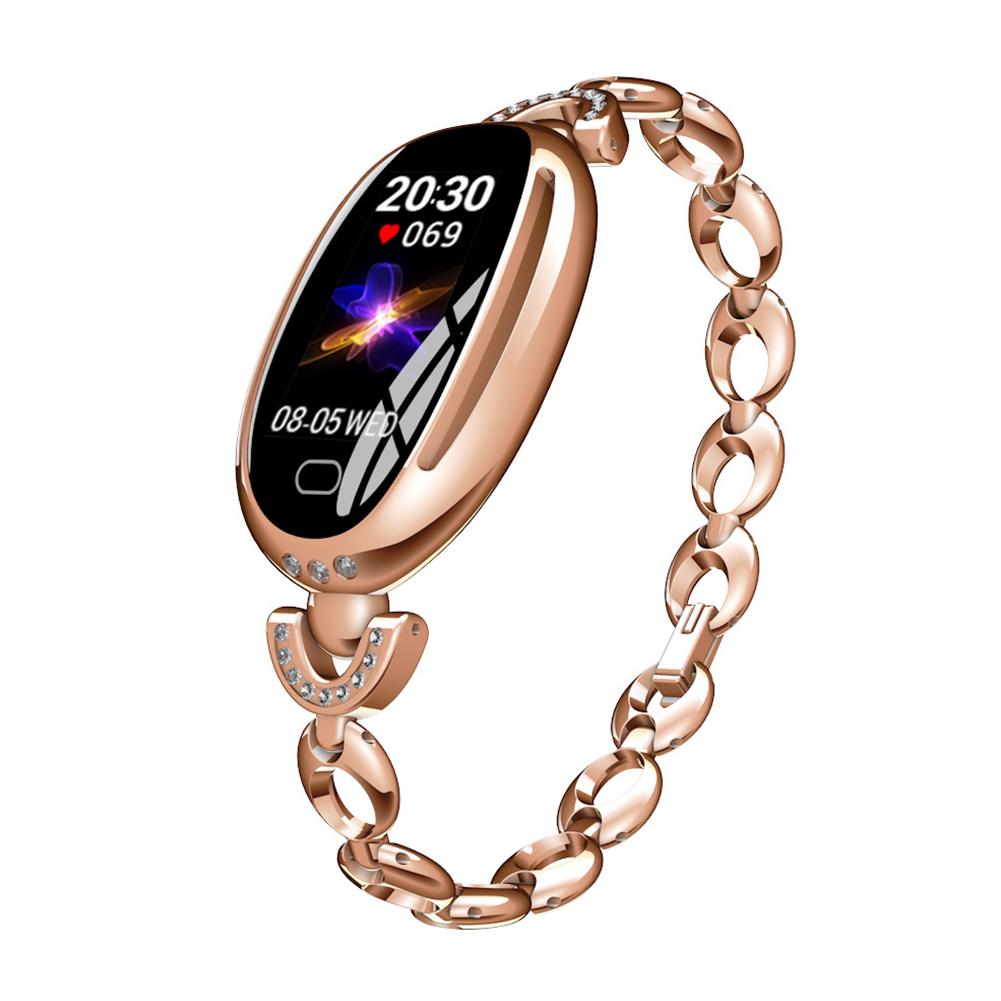 E68 Smart Bracelet Waterproof Women Watch Fitness Tracker Heart Rate Blood Pressure Female Smart Wristband Gold