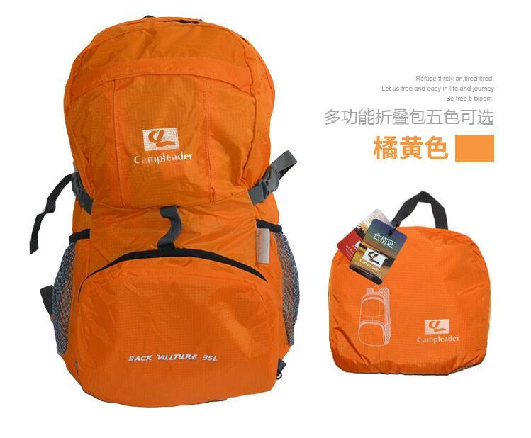 Outdoor Backpack Camping Climbing Bag Waterproof Mountaineering Hiking Rucksack Orange