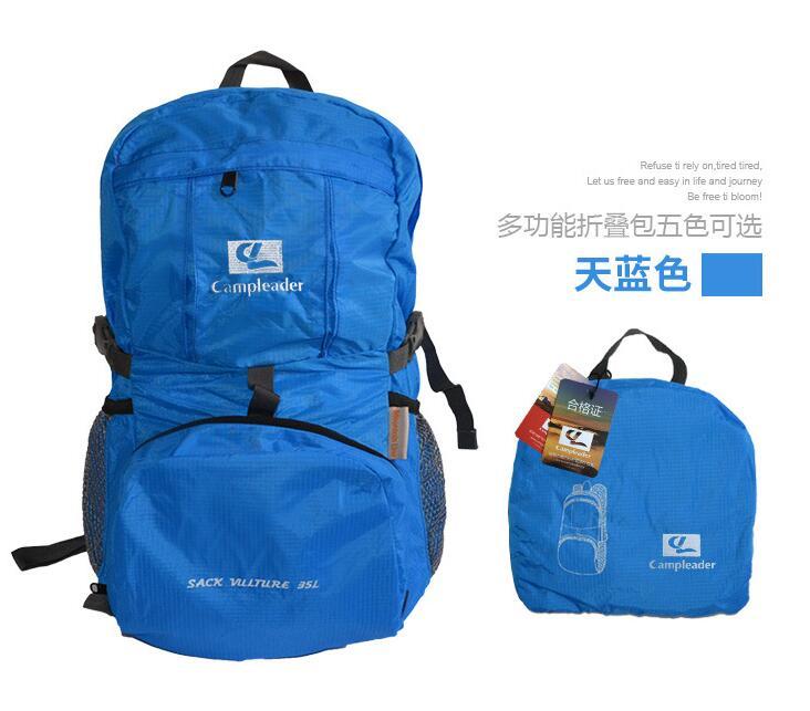 Outdoor Backpack Camping Climbing Bag Waterproof Mountaineering Hiking Rucksack sky blue