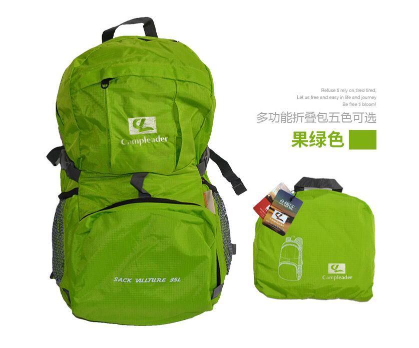 Outdoor Backpack Camping Climbing Bag Waterproof Mountaineering Hiking Rucksack green