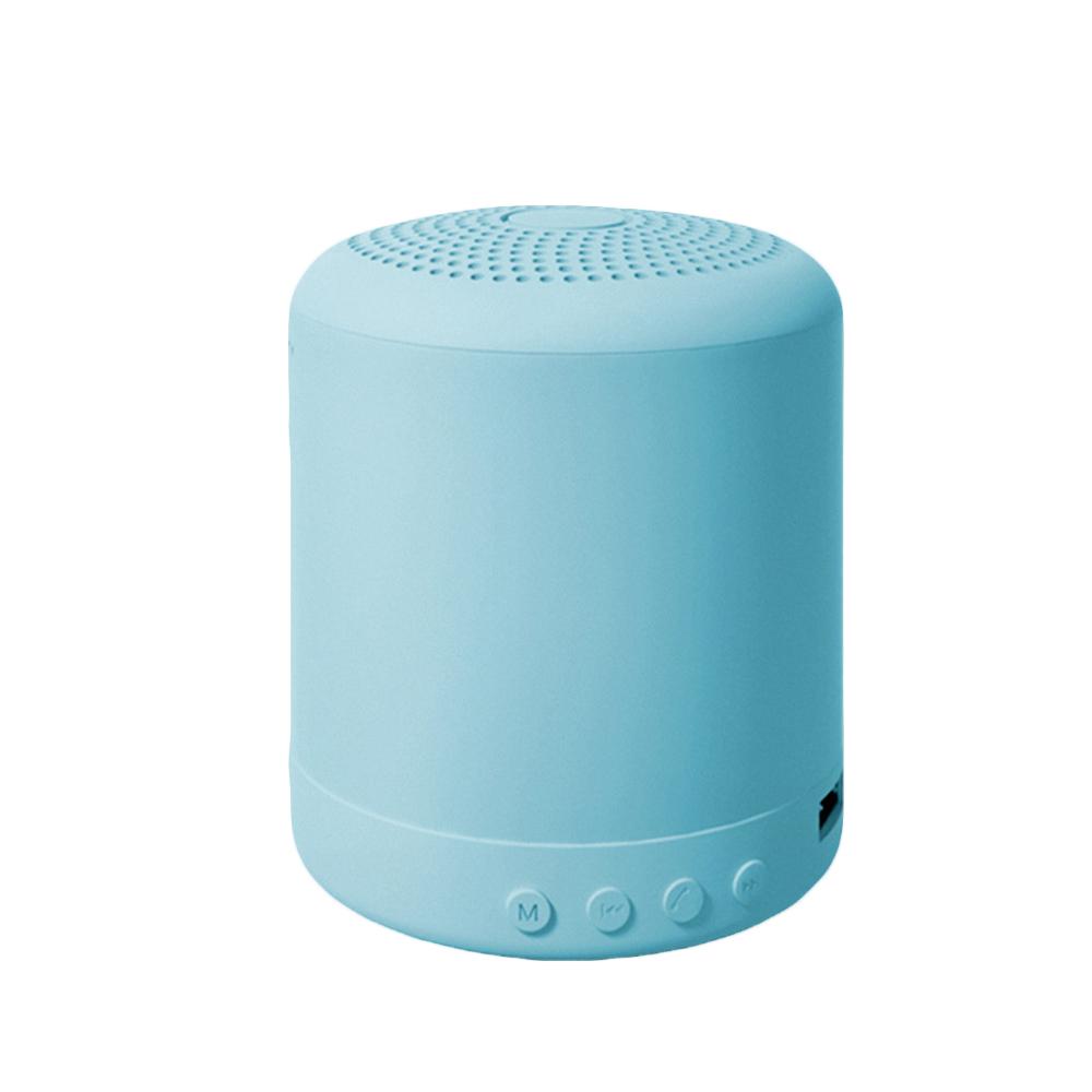 Portable Speaker Bluetooth Wireless Stereo Speakers Mini Column Bass Music Player 5W Speaker Box Bas blue