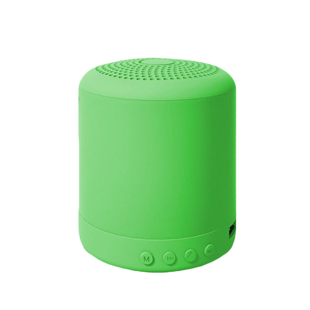 Portable Speaker Bluetooth Wireless Stereo Speakers Mini Column Bass Music Player 5W Speaker Box Bas green