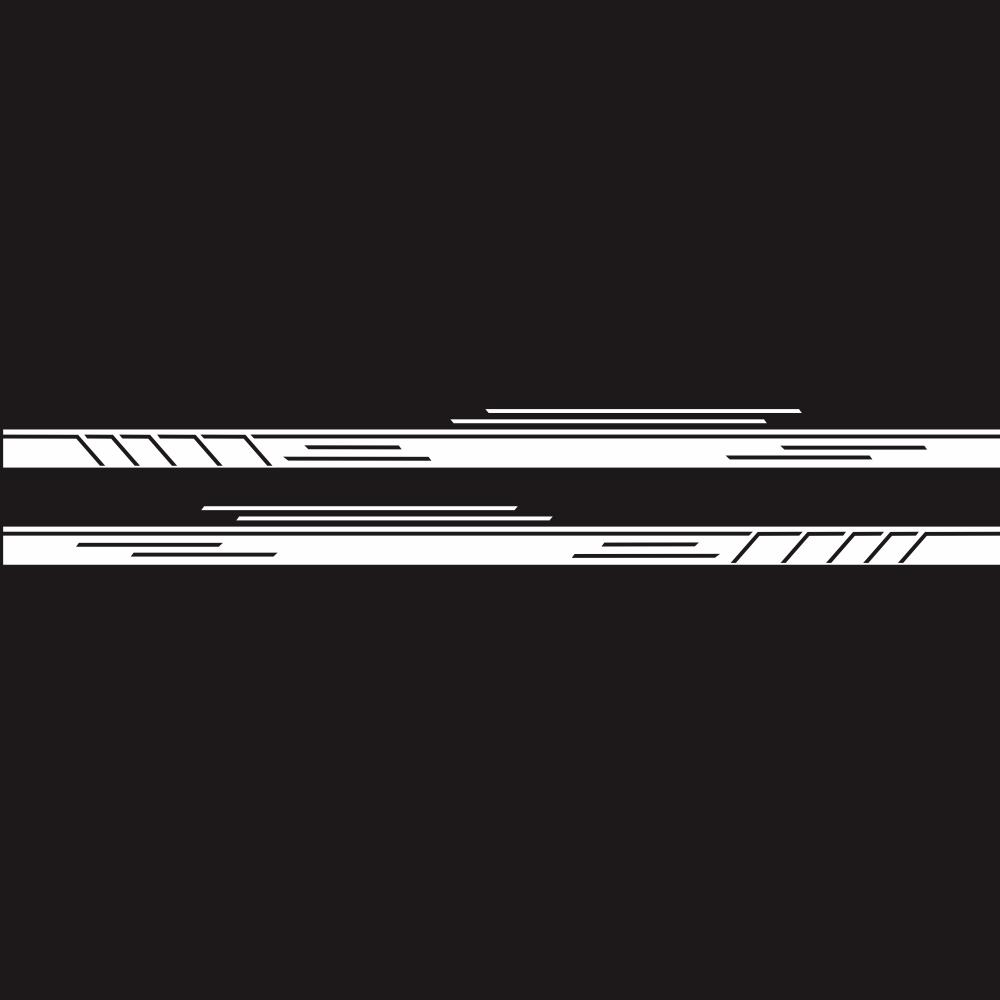 Vinyl Stripes Decal Car Body Side Wrap Black Graphics Waterproof Sticker white