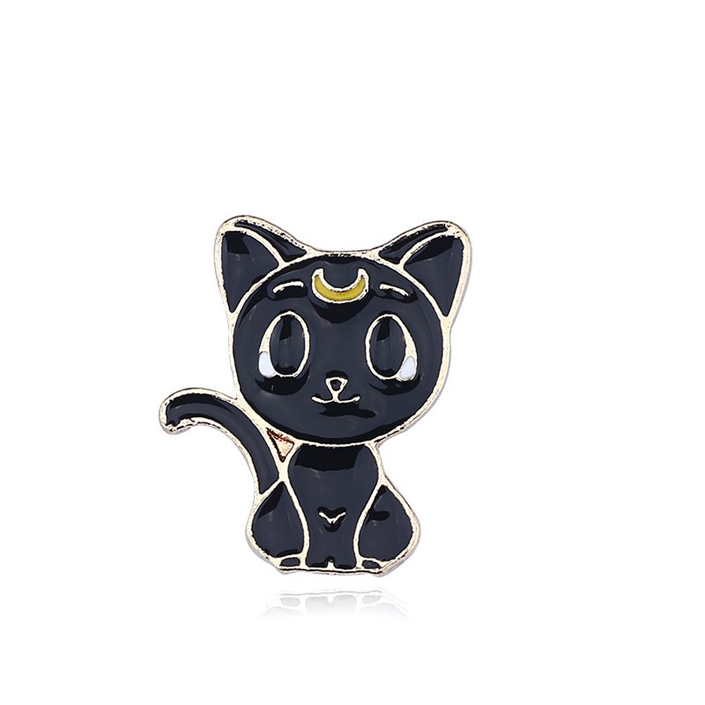 Creative Alloy Oil Drip Brooch Fashion Cartoon Cat Wing Breastpin