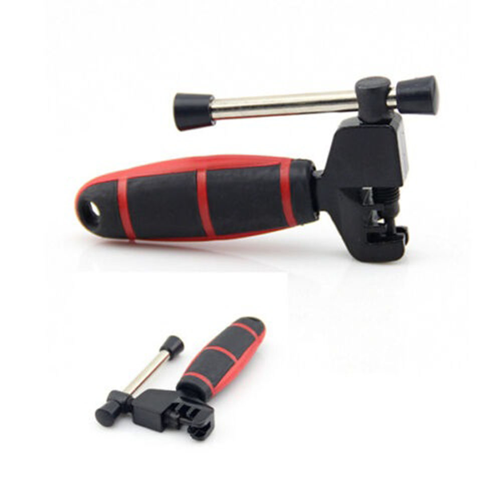 Bike Chain Splitter Breaker Bicycle Cycling BMX Steel Removal Rivet Tool(Black+Red) Black + red