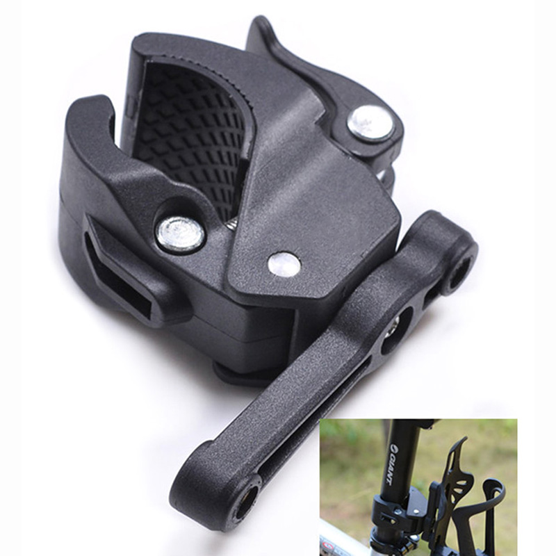 Bicycle Cycling Handlebar Mount Water Bottle Cage Holder Rack Clamp Universal For Bike Black_Universal switch mount for water bottle case